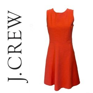 J CREW stretchy fit and flare dress in red